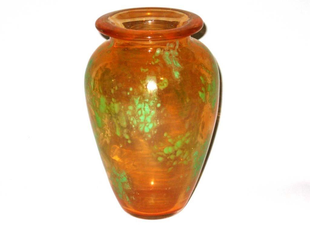 CHARLES SCHNEIDER ART DECO GLASS VASE 9.75 INCHES
