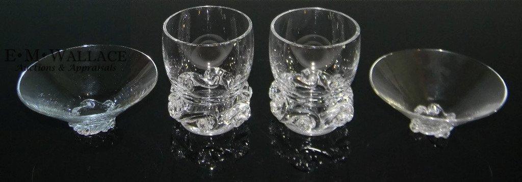 BACCARAT CRYSTAL ASH BOWLS & CIGARETTE CUPS