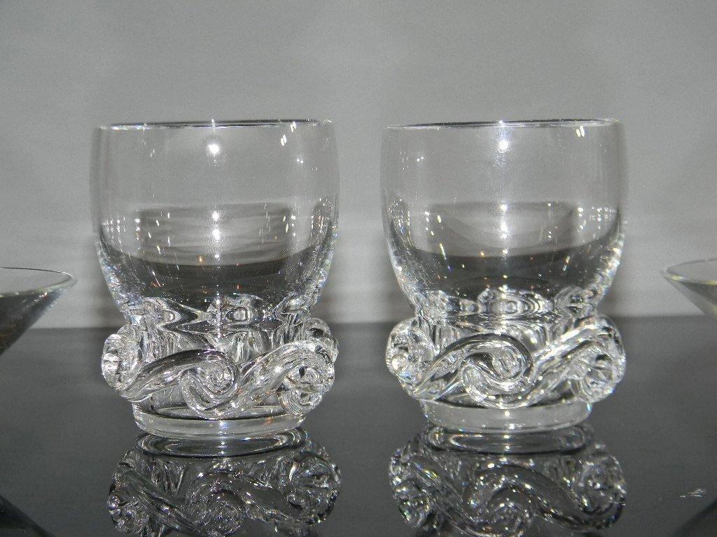 BACCARAT CRYSTAL ASH BOWLS & CIGARETTE CUPS - 2