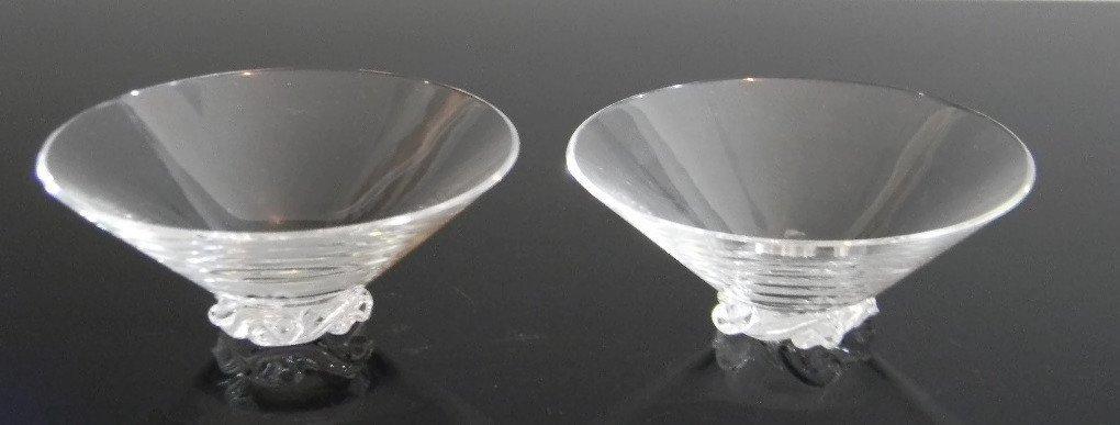 BACCARAT CRYSTAL ASH BOWLS & CIGARETTE CUPS - 4