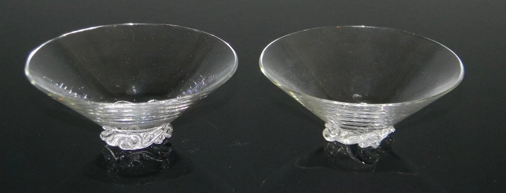 BACCARAT CRYSTAL ASH BOWLS & CIGARETTE CUPS - 5
