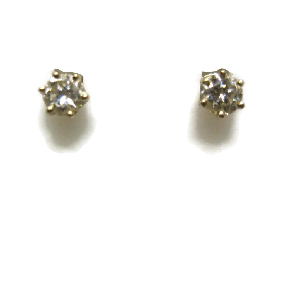 PAIR OF DIAMOND STUD EARRINGS IN 14K GOLD - 5