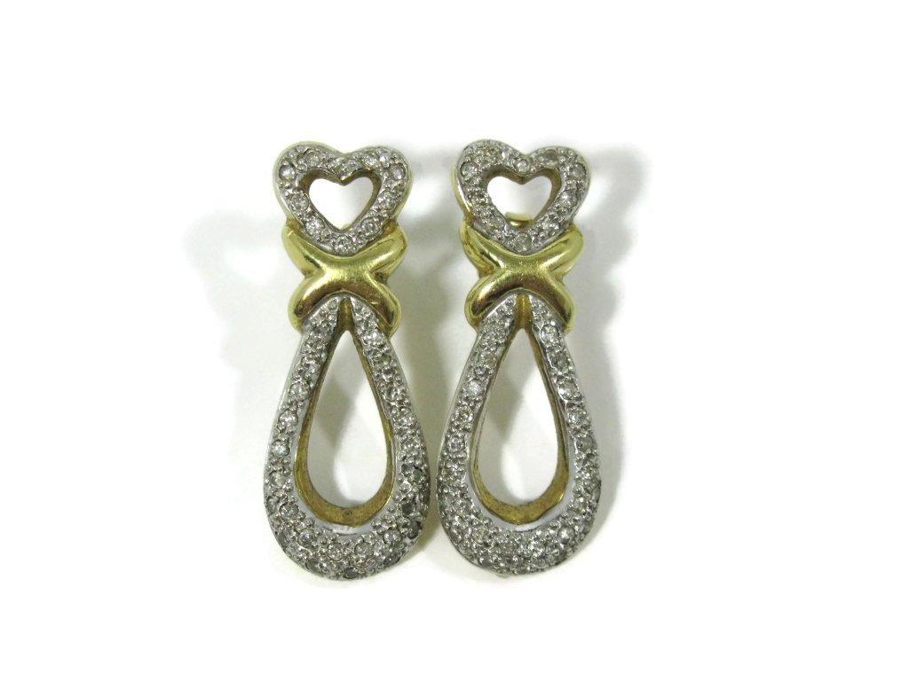 CUSTOM 18K YELLOW GOLD AND DIAMOND EARRINGS - 3