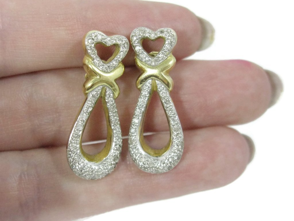 CUSTOM 18K YELLOW GOLD AND DIAMOND EARRINGS - 4