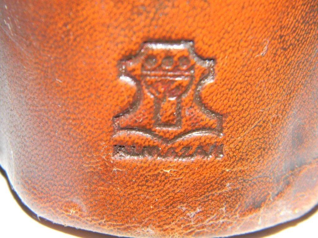 DIMITRI OMERSA LEATHER BULL FOOTSTOOL - LARGE - 3
