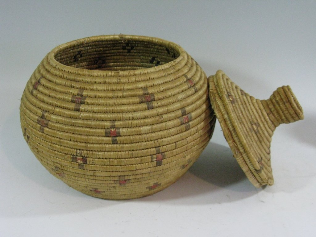 COLLECTION OF INUIT & MAKAH PEOPLES WOVEN BASKETS - 2
