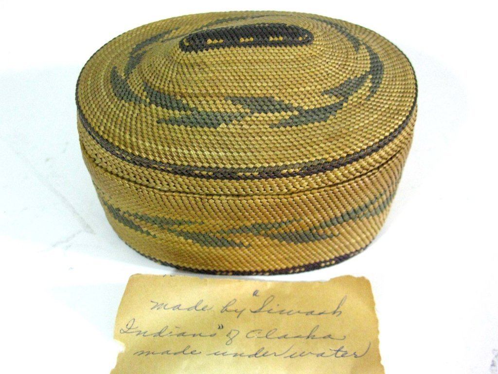 COLLECTION OF INUIT & MAKAH PEOPLES WOVEN BASKETS - 5