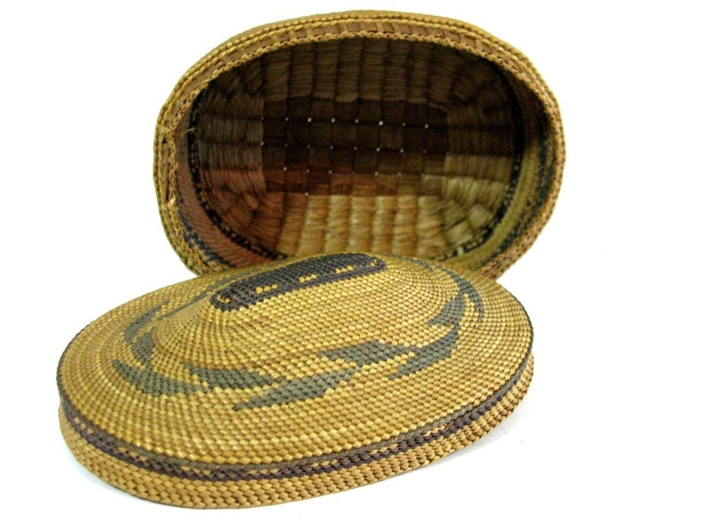COLLECTION OF INUIT & MAKAH PEOPLES WOVEN BASKETS - 6