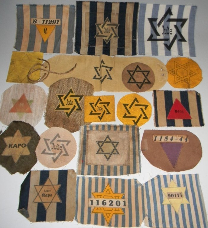 POIGNANT COLLECTION OF WWII JEWISH STAR PATCHES