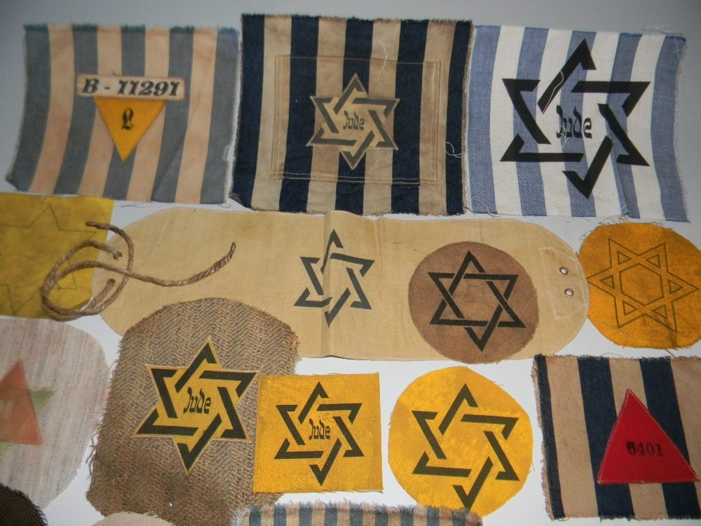 POIGNANT COLLECTION OF WWII JEWISH STAR PATCHES - 2