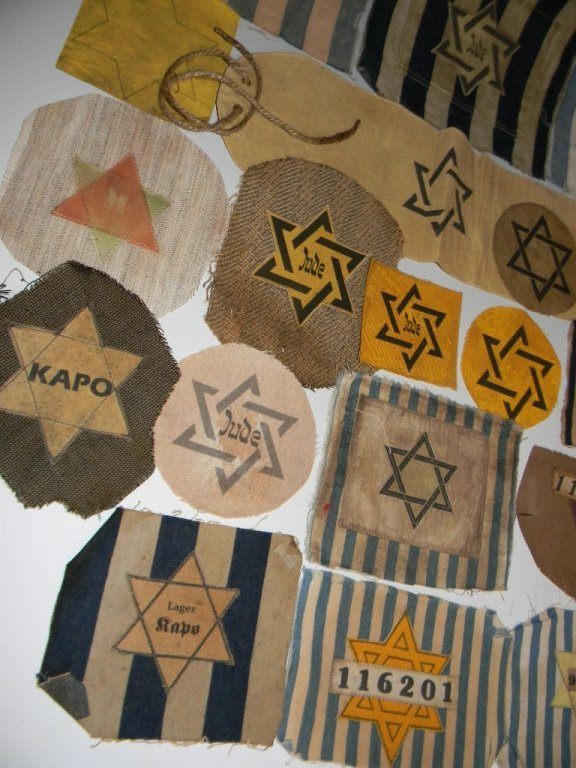 POIGNANT COLLECTION OF WWII JEWISH STAR PATCHES - 3