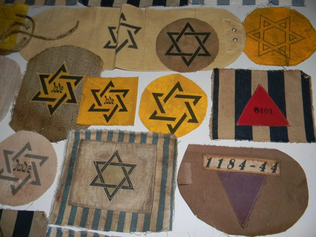 POIGNANT COLLECTION OF WWII JEWISH STAR PATCHES - 4