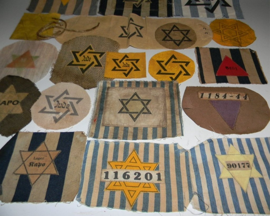 POIGNANT COLLECTION OF WWII JEWISH STAR PATCHES - 5