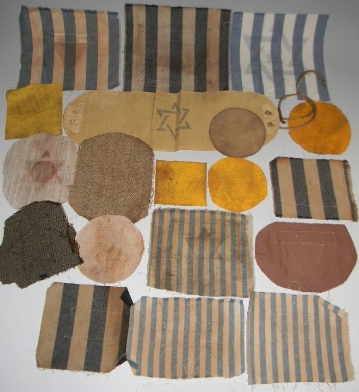 POIGNANT COLLECTION OF WWII JEWISH STAR PATCHES - 6