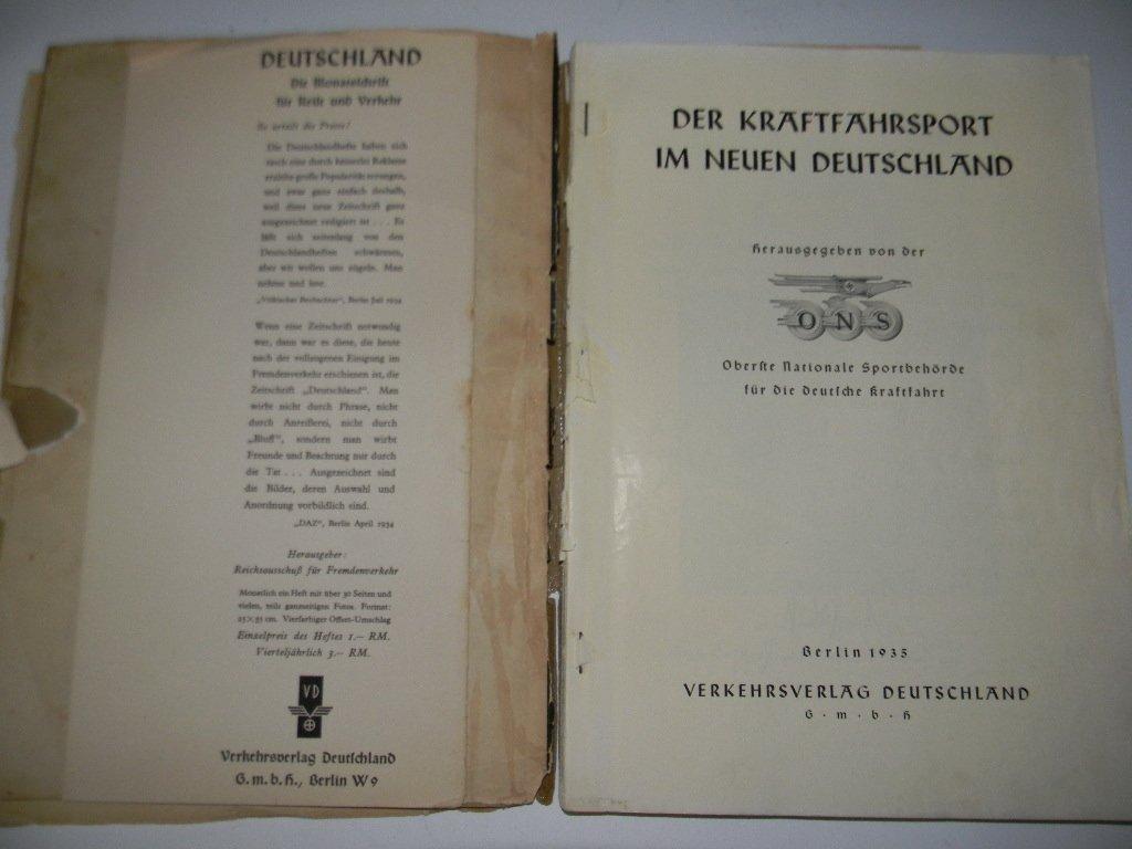 BOOK DER KRAFTFAHRSPORT IM NEUEN DEUTSCHLAND - 3