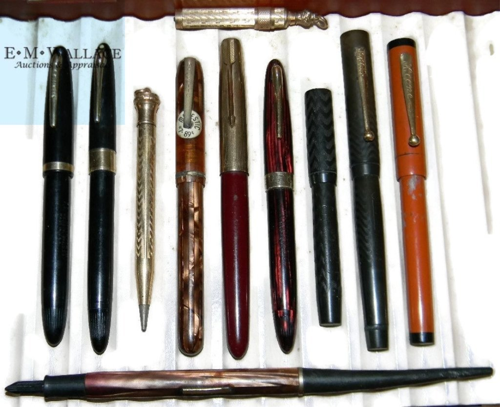 10 @ FOUNTAIN PENS & GOLD FILLED W/ 14K GOLD NIBS.