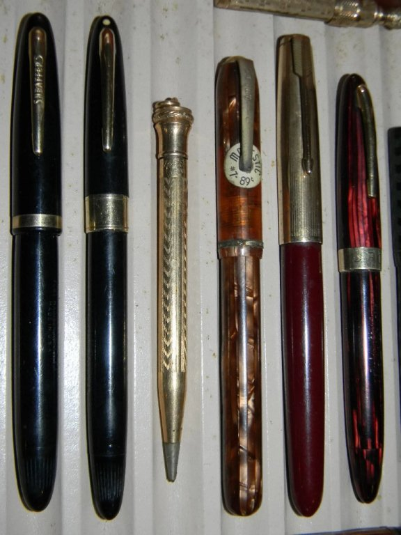 10 @ FOUNTAIN PENS & GOLD FILLED W/ 14K GOLD NIBS. - 2