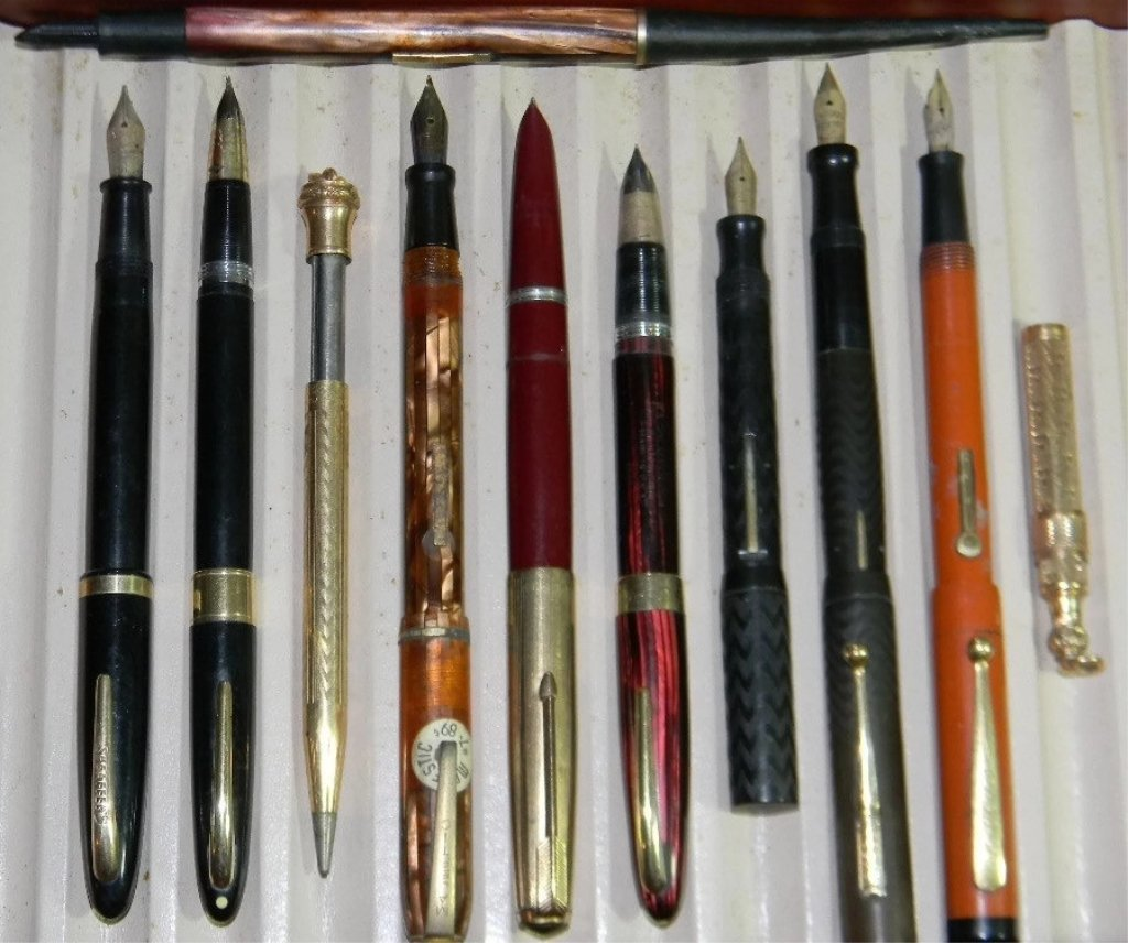 10 @ FOUNTAIN PENS & GOLD FILLED W/ 14K GOLD NIBS. - 4