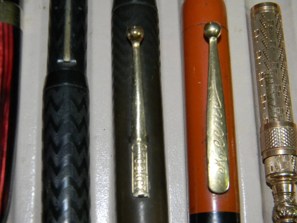 10 @ FOUNTAIN PENS & GOLD FILLED W/ 14K GOLD NIBS. - 7