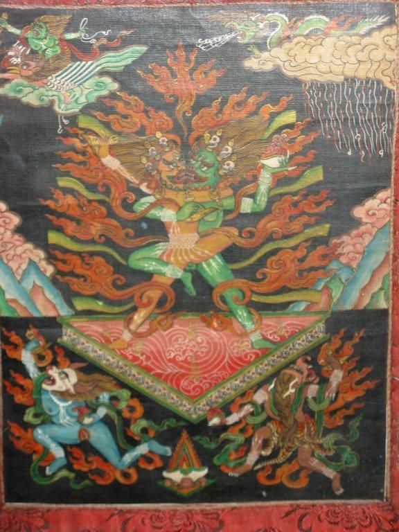 TIBETAN THANGKA OF CHEMCHOK HERUKA PAINTING - 9