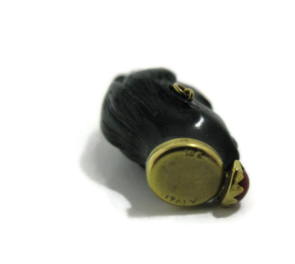 ITALIAN BLACKAMOOR PENDANT WITH 18K GOLD - 5