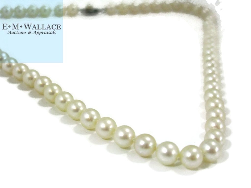 KNOTTED PEARL NECKLACE STERLING CLASP