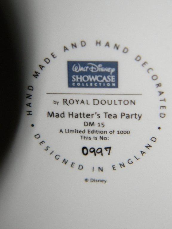 ROYAL DOULTON DISNEY MAD HATTER TABLEAU DM15 - 4