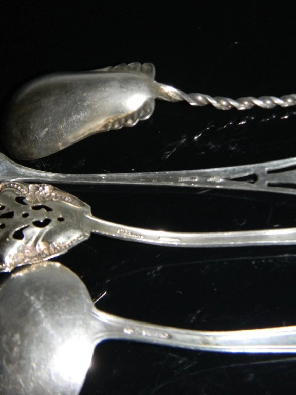 COLLECTION STERLING SILVER SERVING UTENSILS - 7