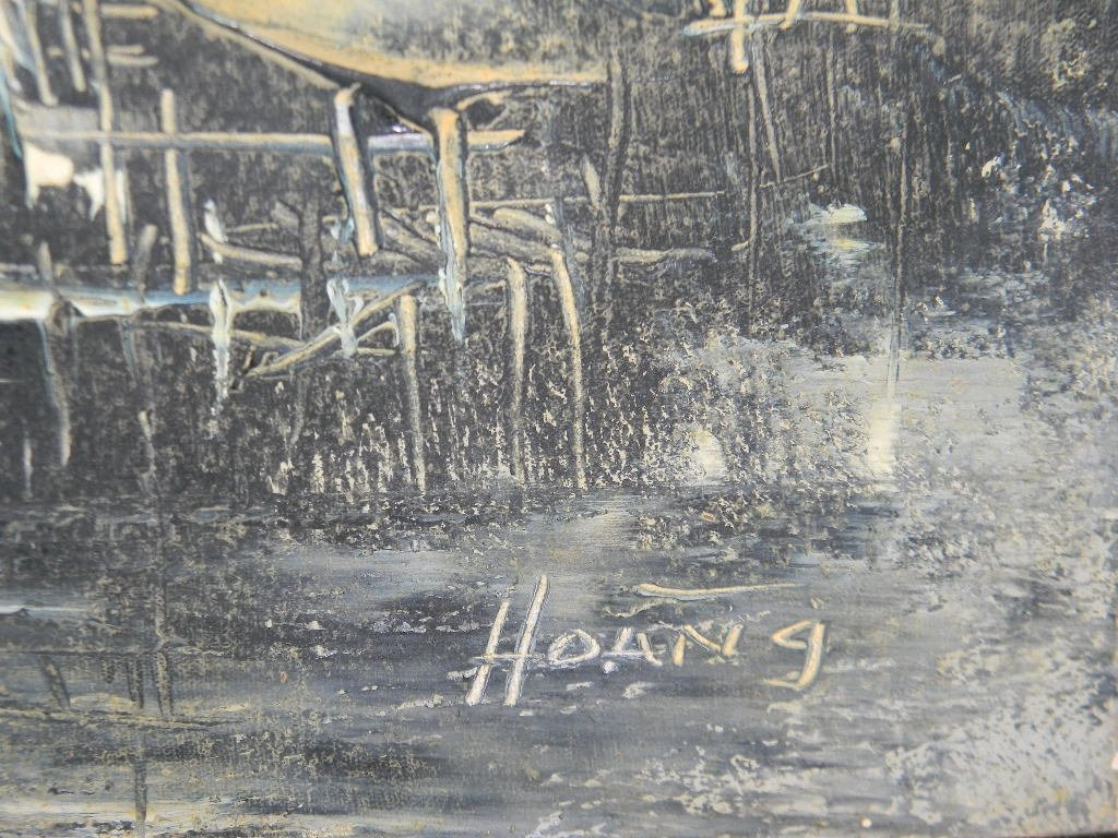 2 @ HOANG MID-MOD OIL ON CANVAS PAINTINGS - 7