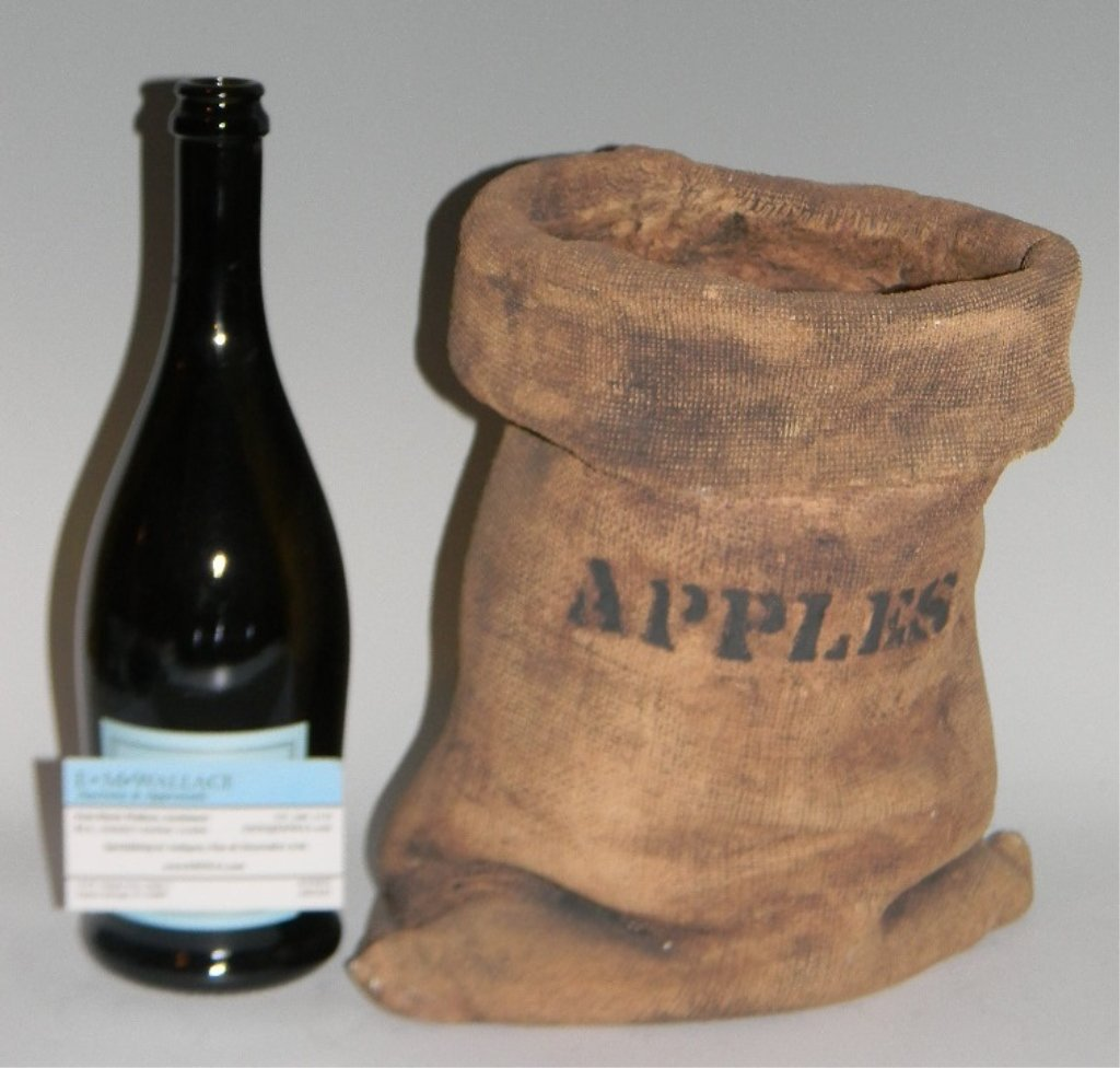 "SIGNED CERAMIC ""APPLE SACK"" SCULPTURE - 2"