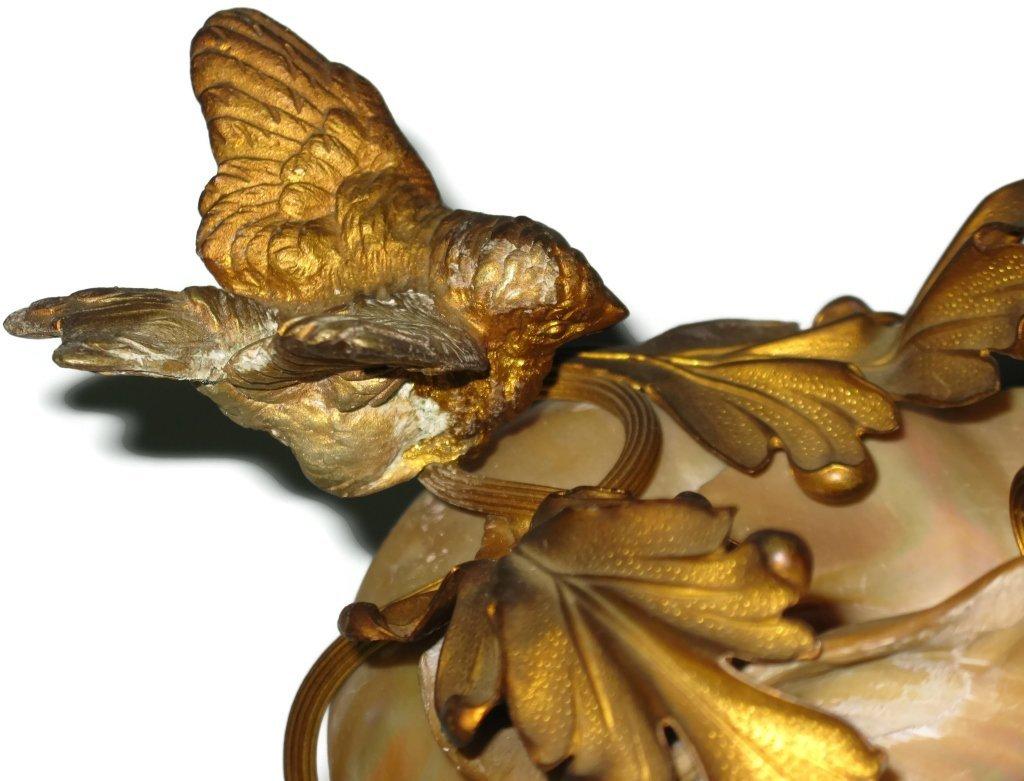 2 @ C. 1815 NAUTILUS SHELL & DORE BIRD COMPOTES - 4
