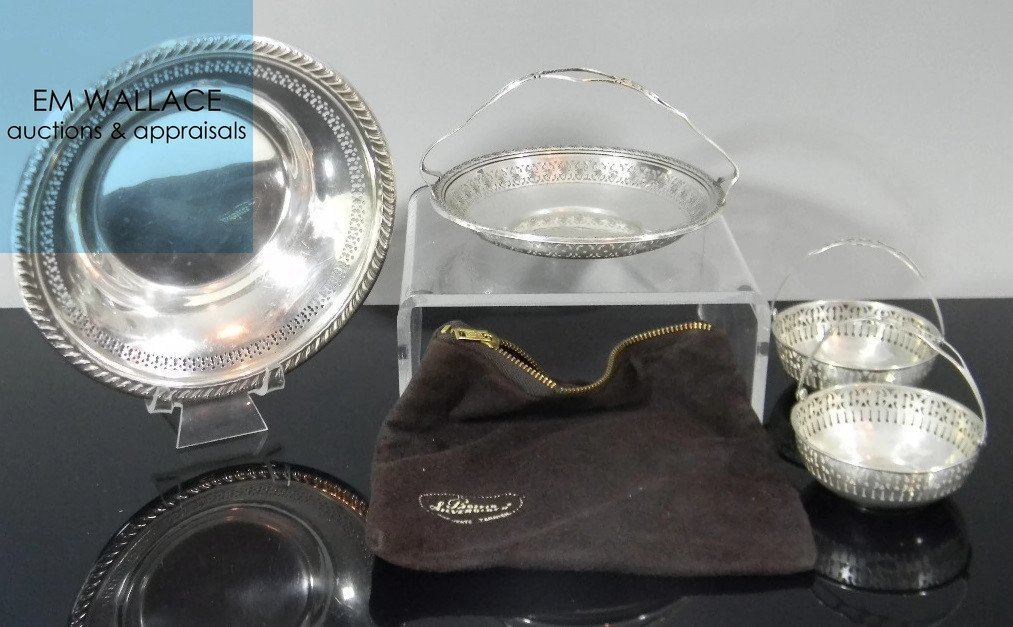 4 @ STERLING SILVER RETICULATED BASKETS & BOWL