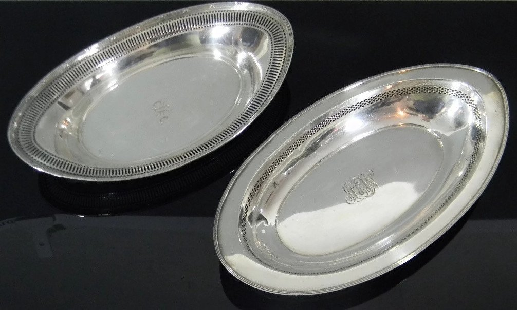 1900 RETICULATED AMERICAN STERLING BOWLS