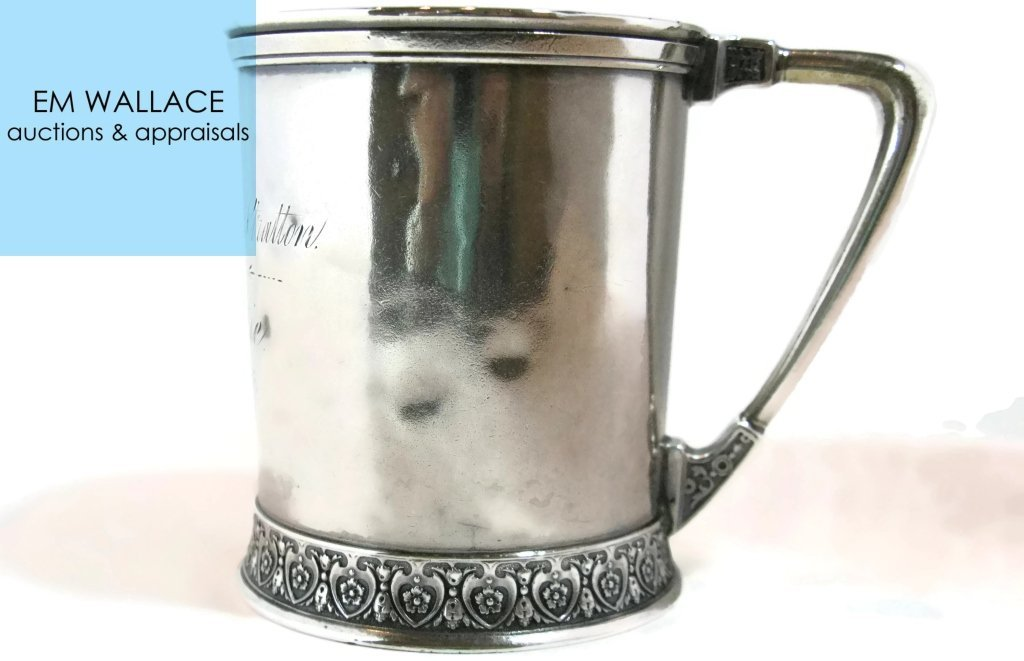 1876 ENGLISH STERLING SILVER CHRISTENING CUP