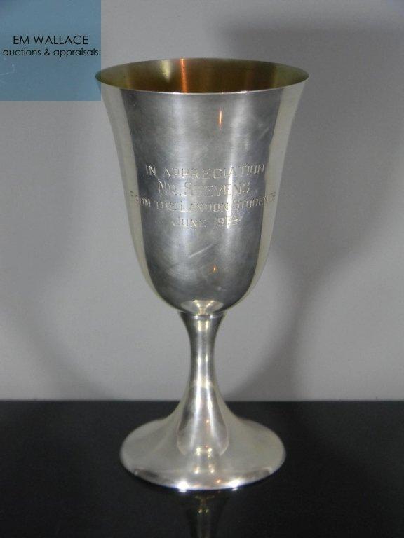 BELL STERLING GOBLET PRESENTATION CUP 134G
