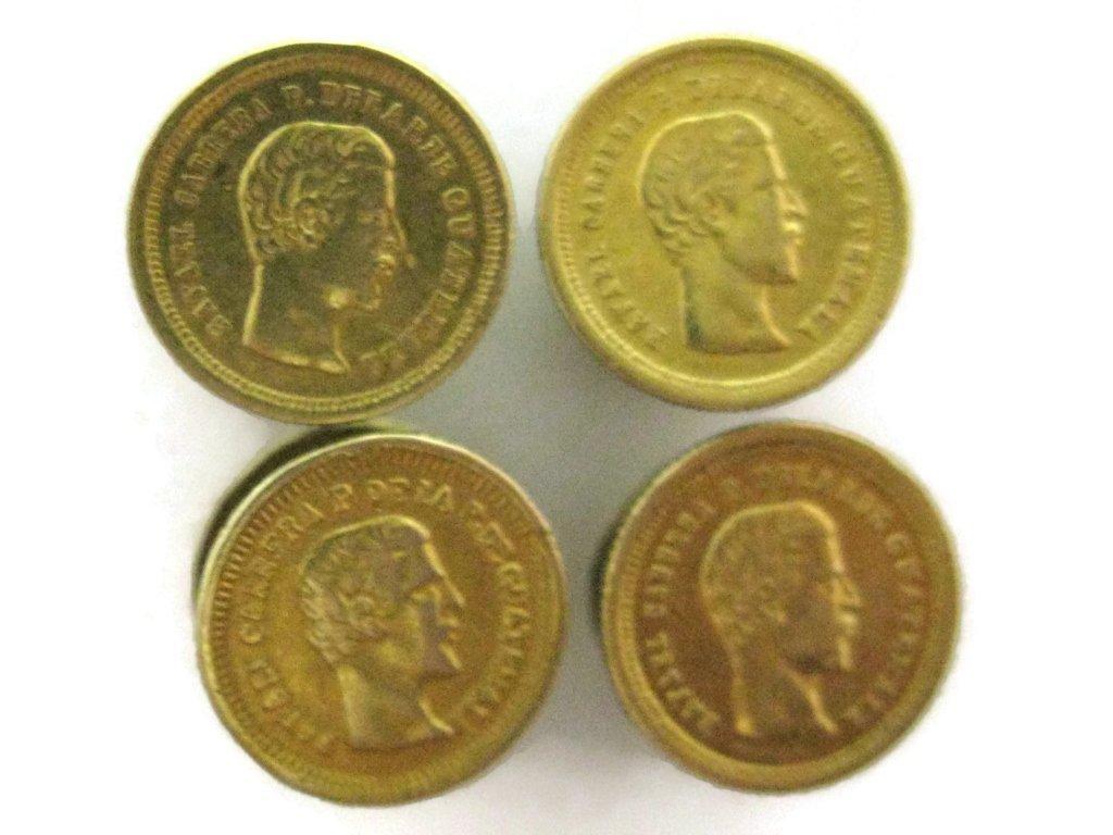GOLD COIN TUXEDO CUFFLINKS & BUTTONS 22K, 21K, 14K - 6