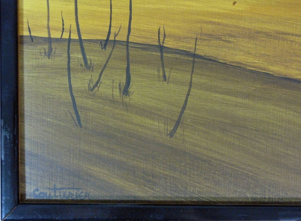 3 @ COUTURIER OIL MASONITE ABSTRACT PAINTINGS - 6
