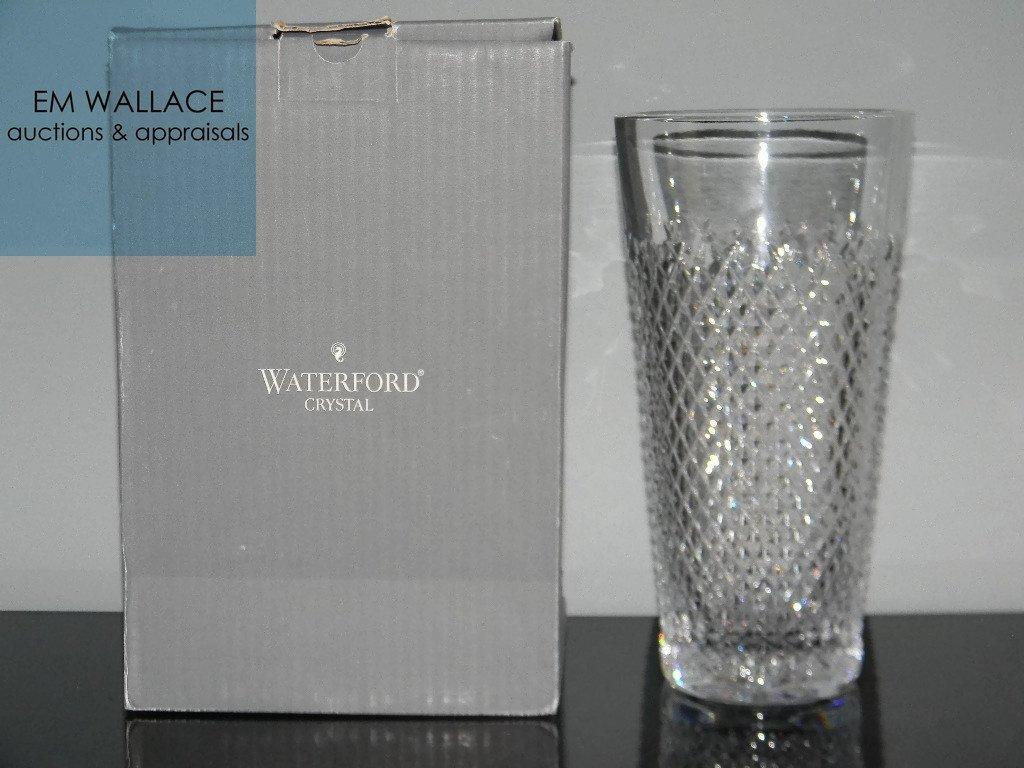 "WATERFORD IRISH CRYSTAL ALANA VASE 10"""