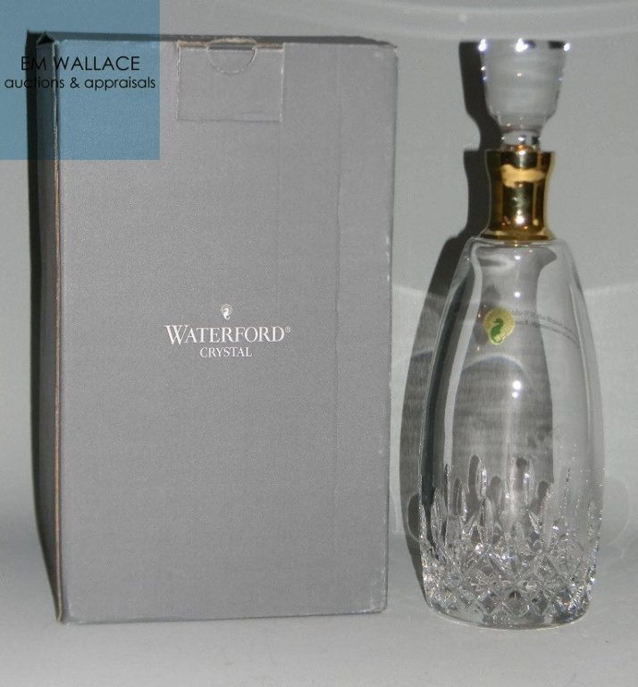 5 @ WATERFORD CRYSTAL LISMORE DECANTER & GLASSES - 2