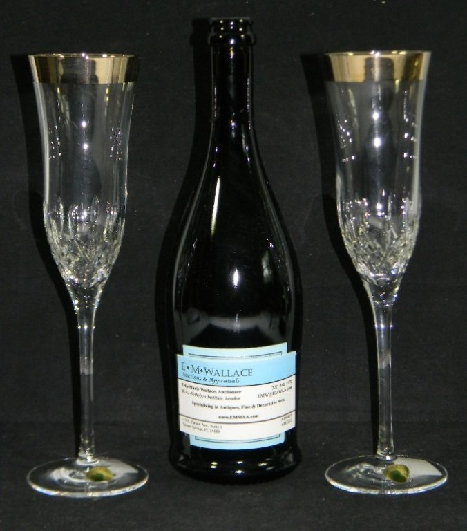 5 @ WATERFORD CRYSTAL LISMORE DECANTER & GLASSES - 7