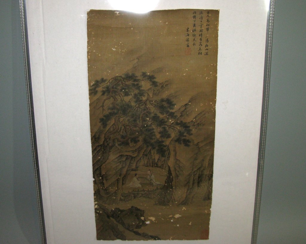 2 @ CHINESE SILK PAINTINGS PLAYING GO & FIGURATIVE - 3
