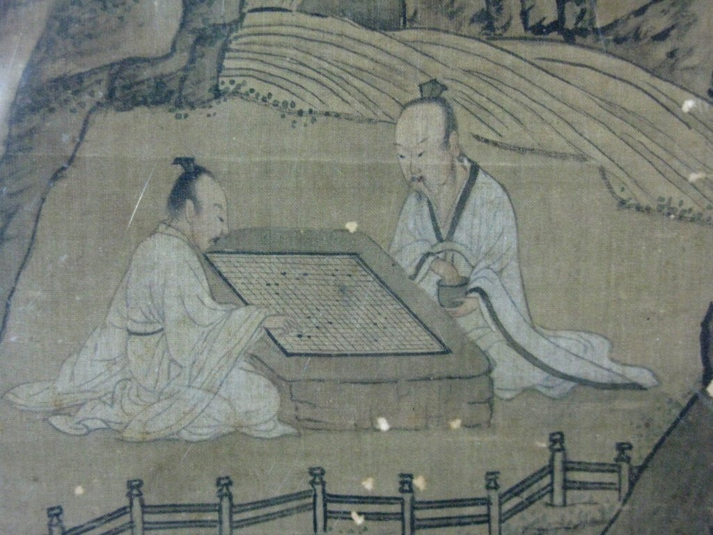2 @ CHINESE SILK PAINTINGS PLAYING GO & FIGURATIVE - 7