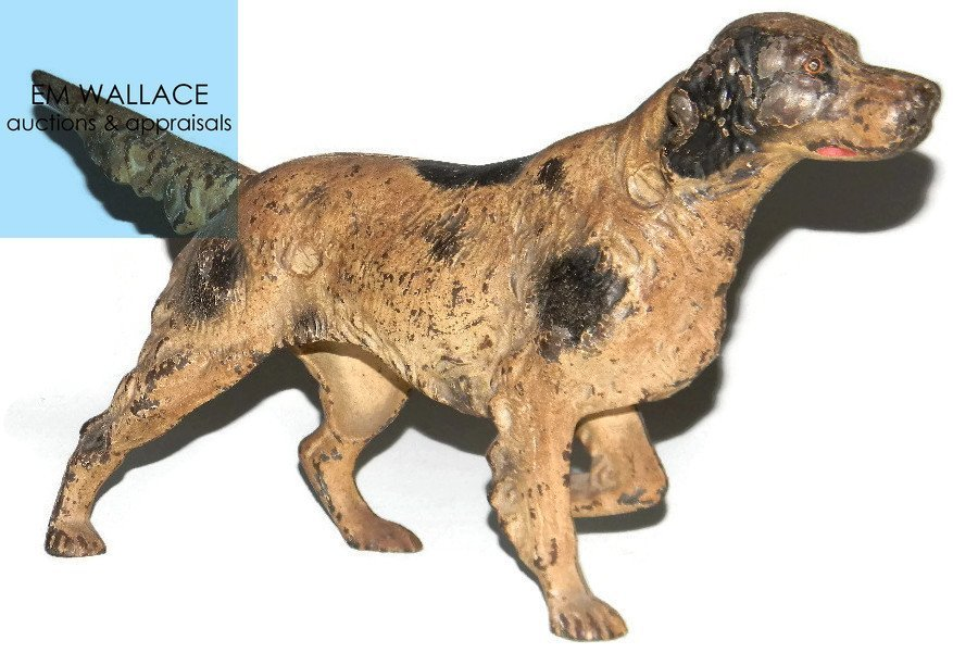 HUBLEY CAST IRON DOORSTOP IRISH SETTER DOG 347