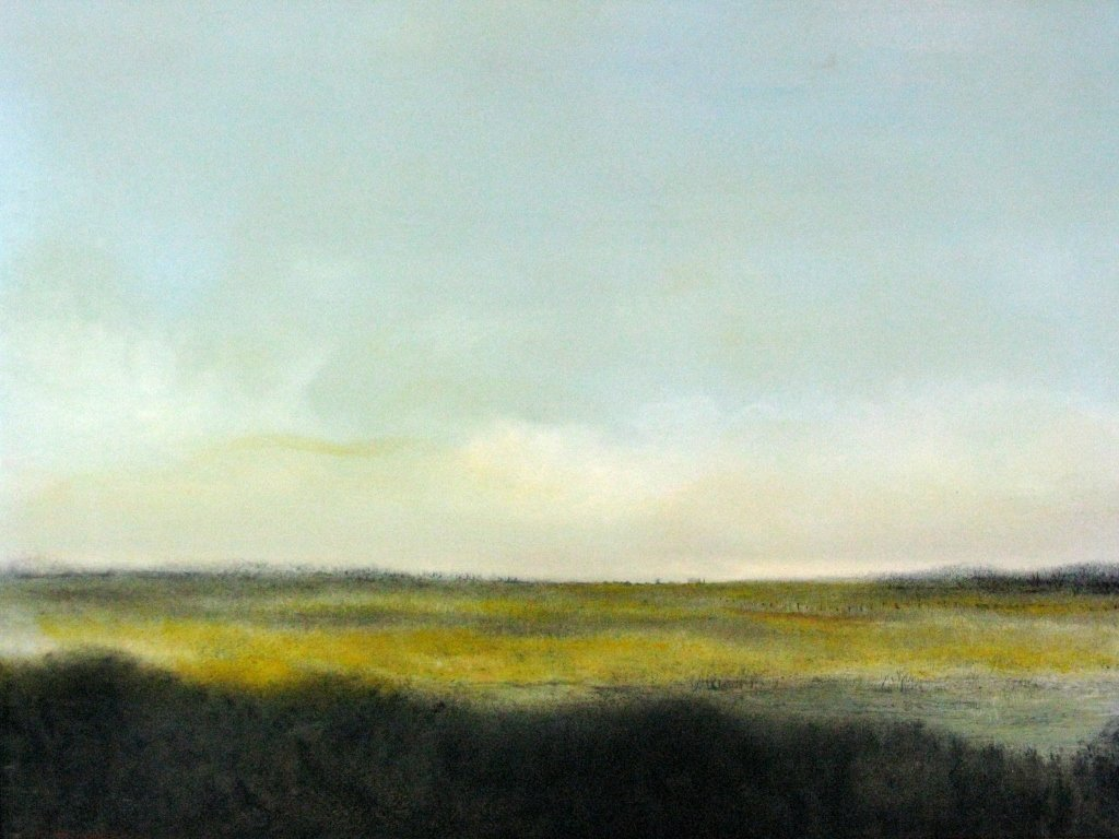 SANDERS OIL MASONITE LANDSCAPE PAINTING 1961 - 2