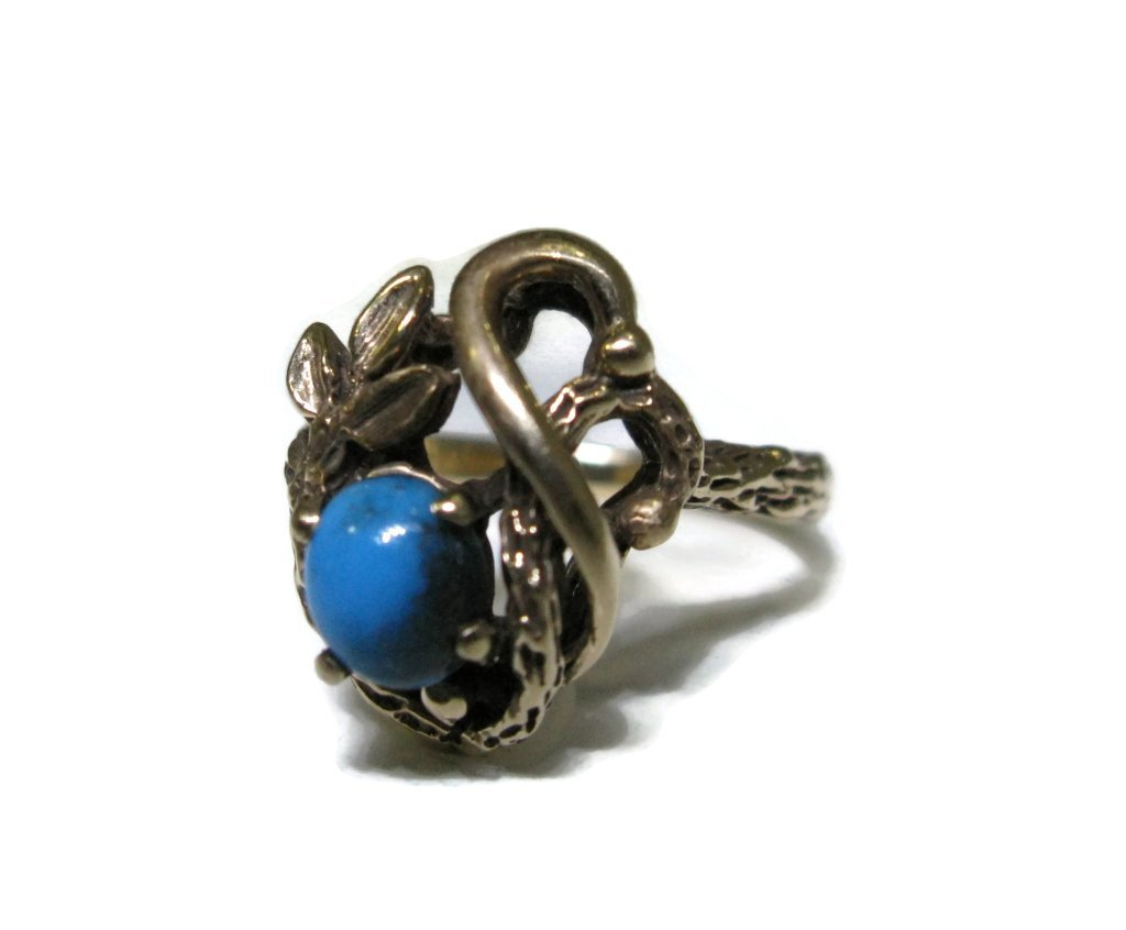 BRUCE MEAD RING 14K GOLD & BISBEE TURQUOISE - 2