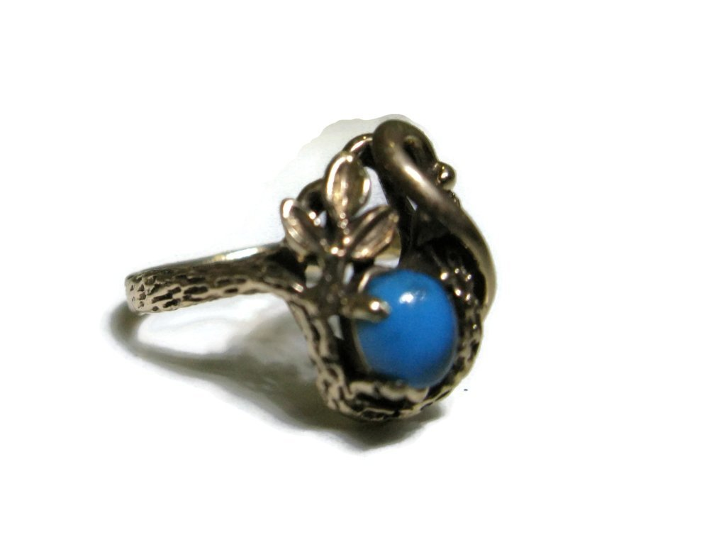 BRUCE MEAD RING 14K GOLD & BISBEE TURQUOISE - 3