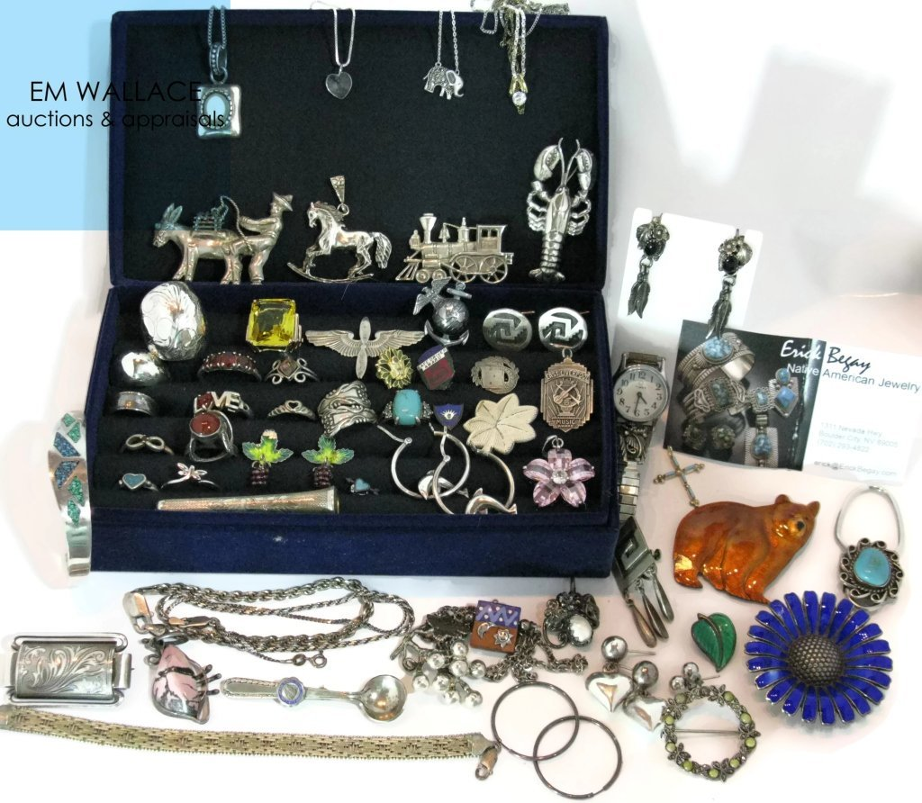LARGE DEALERS LOT STERLING SILVER JEWELRY