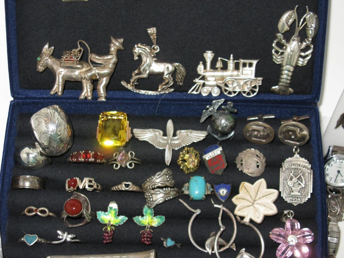LARGE DEALERS LOT STERLING SILVER JEWELRY - 2