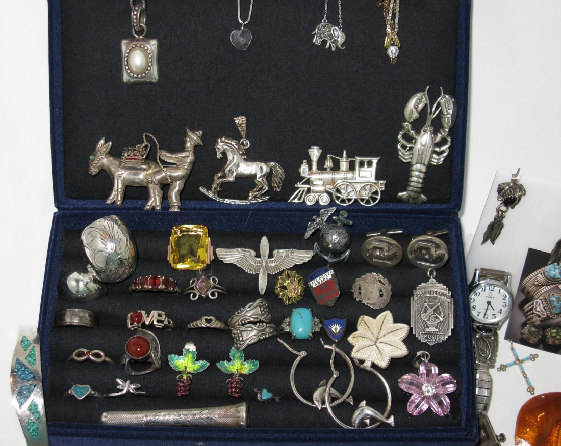 LARGE DEALERS LOT STERLING SILVER JEWELRY - 3