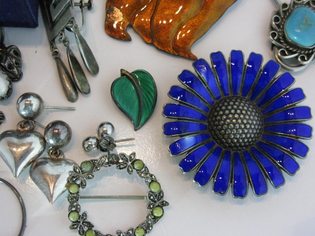 LARGE DEALERS LOT STERLING SILVER JEWELRY - 5